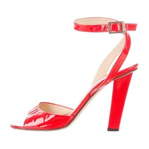 Jimmy Choo red patent leather sandals